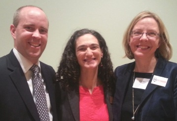 Marijke Hect from the Pittsburgh Parks Conservancy with proud coaches Jeff Forster and Karen Poirier of KeboWorks, LLC.