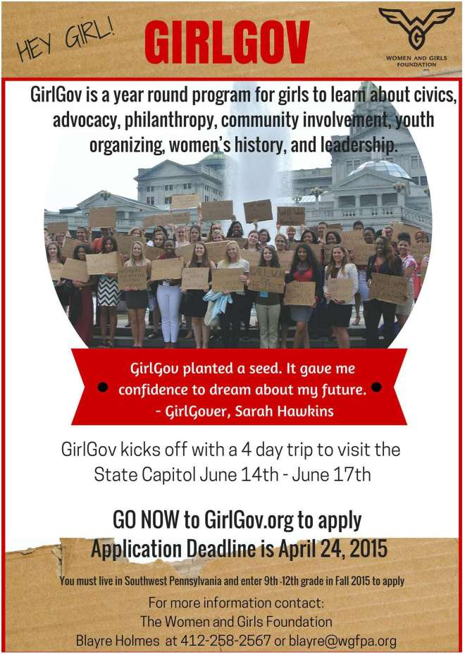 GirlGov 2015 Poster